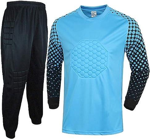 WHSPORT Uniforme Portero Fútbol Equipar Anti Choques Masculino Traje Portero Camisa Dragón Ropa Entrenamiento Pantalones (Color : Blue, Size : XXXL): Amazon.es: Hogar