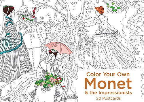 Color Your Own Monet and the Impressionists 20 Postcards ebook