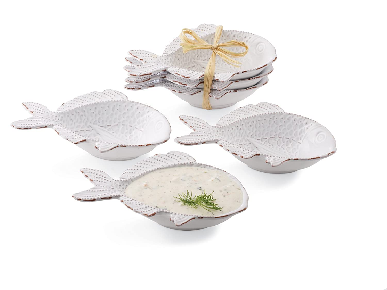 Mud Pie 107384 Turtle Shaped Dip Bowls, Mini, Set of 3