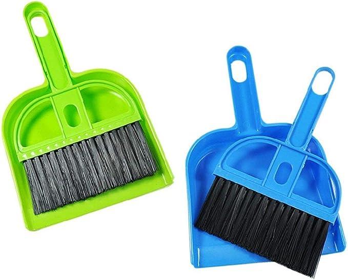 Mini Cepillo de Escoba de Limpieza y Conjunto de recogedor Escoba + Cepillo de recogedor Conjunto de Cepillo de Limpieza de Barrido de Escritorio (Color: Color Aleatorio): Amazon.es: Hogar