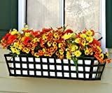 60 inch Santiago Taperred Iron Window Box with Vinyl Liner