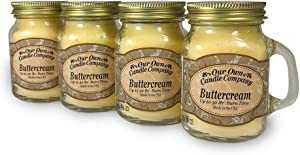 Our Own Candle Company Buttercream Scented Mini Mason Jar Candle, 3.5 Ounce (4 Pack)