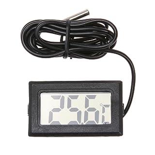 Broadroot Termómetro electrónico Digital LCD con sonda, Herramienta Impermeable para Animales domésticos