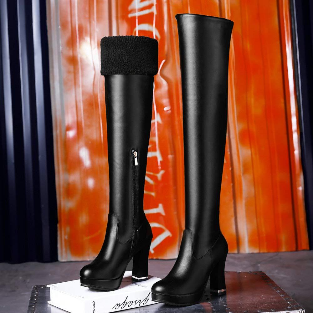 AnMengXinLing LIXIN-85-A-7296-B-7295, Damen Schneestiefel, schwarz(b) Schwarz - schwarz(b) Schneestiefel, - Größe: EU 36 - abfb91