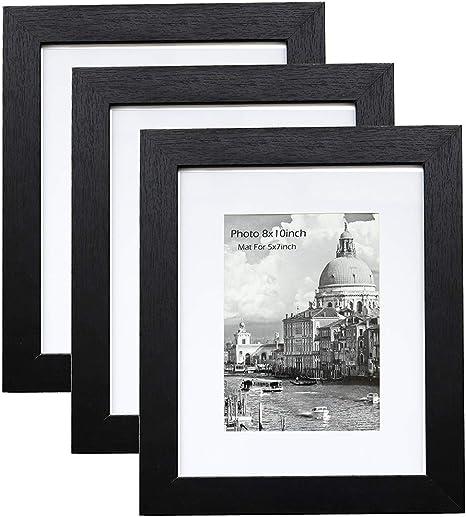 Photo Frame Chevron Mat Black Wood Picture Frame with Burlap Mat and Clip Chevron or Plain Clip 8x10-4x6-5x7