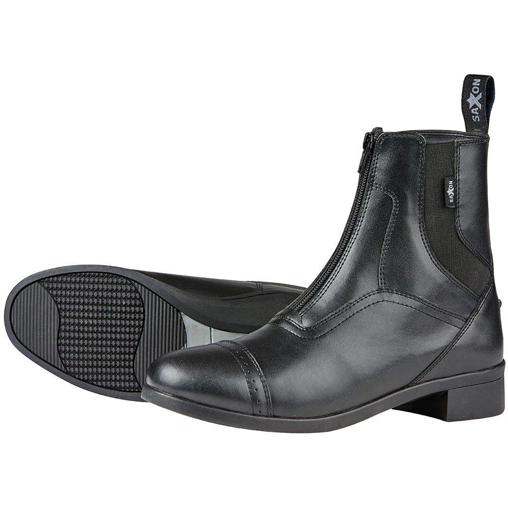 Botas de equitación para adultos Saxon Syntovia, color negro Weatherbeeta