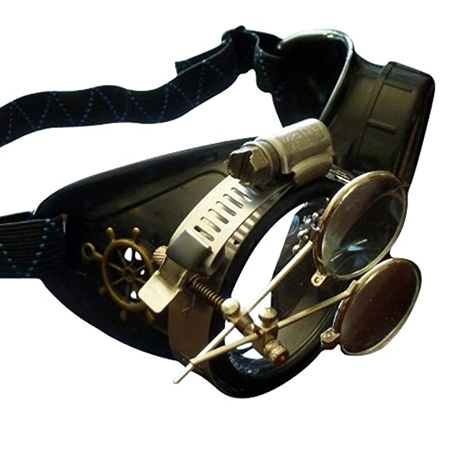 Steampunk Accessories | Goggles, Gears, Glasses, Guns, Mask Steampunk Victorian Goggles welding Glasses diesel punk $19.99 AT vintagedancer.com