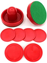 Qtimal Home Standard Air Hockey Paddles And 2 Size Pucks, Small Size For  Kids,