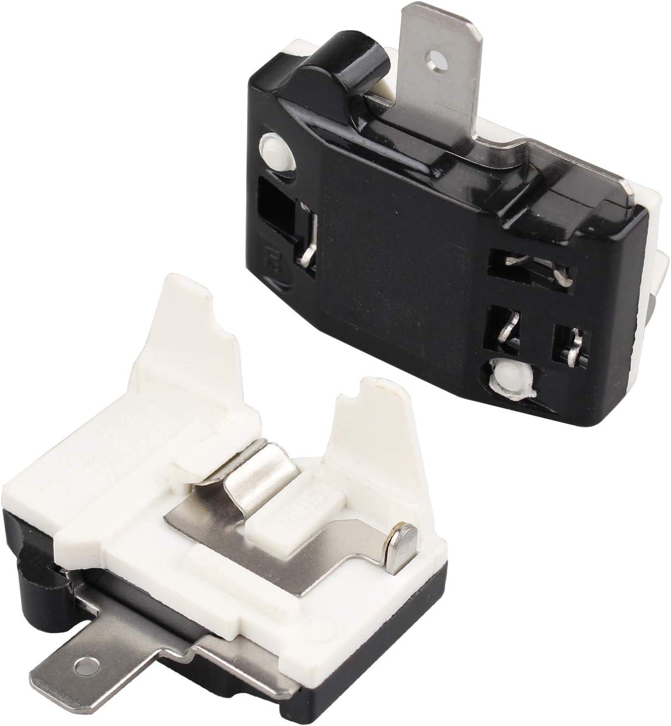 Futheda 2 Stück 220 V 1 4 Ps 180 W 1 Pin Motor Überlastschutz Kühlschrank Überlastschutz Kompressor Ersatzteil Schwarz Elektro Großgeräte
