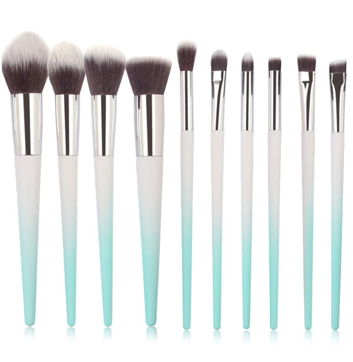 Make up Brushes,Tenmon New 10 Pcs Professional Makeup Brush Set Synthetic Kabuki Face Blush Lip Eyeshadow Eyeliner Foundation Powder Cosmetic Brushes Kit (Blue)