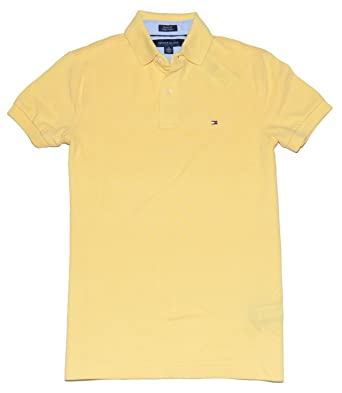 16190aa5 Image Unavailable. Image not available for. Color: Tommy Hilfiger Men Custom  Fit Polo ...