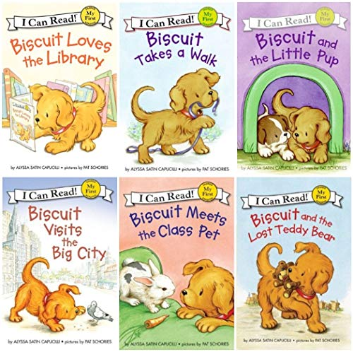 - I Can Read : Biscuit and the Lost Teddy Bear, Biscuit Loves the Library, Biscuit Visits the Big City, Biscuit Meets the Class Pet, Biscuit and the Little Pup, Biscuit Takes a Walk - 6 Book Set