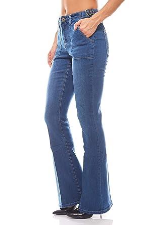 Arizona Schlichte Hose Bootcut Stretchjeans Jeans mit