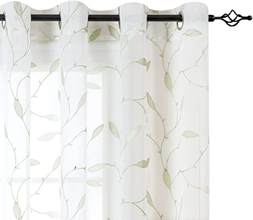 Deal of the week: Lazzzy Sheer Curtains Embroidered Floral Leaf Voile Drapes