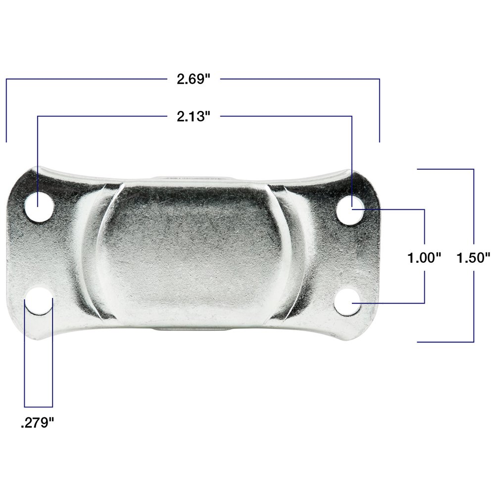 Heavy Duty Rubber Caster Wheel with Swiveling Top Plate - 3-Inch - 225 lb. Load Capacity Waxman 4323499N