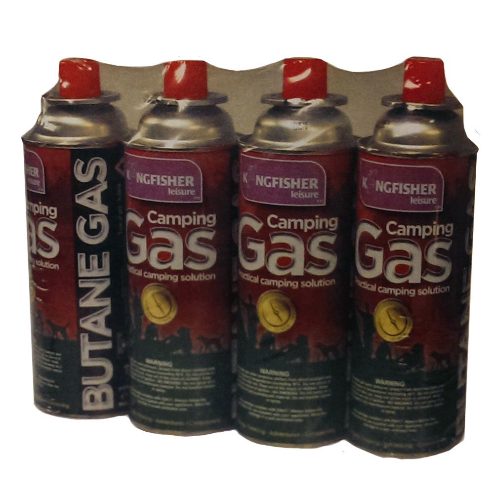 Kingfisher OLGAS Butane Camping Gas Canister 227g Pack-4 KF1525