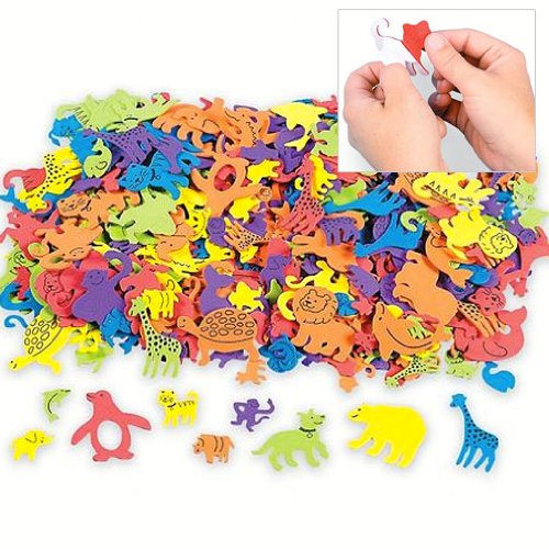 Fun Express Self Adhesive Animal Shapes