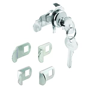 Prime-Line S 4140 Mailbox Lock – Replacement, Multipurpose Mailbox Lock for Several Brands – Nickel Finish, ILCO 1003M Keyway, Opens Counter-Clockwise with 90º Rotation