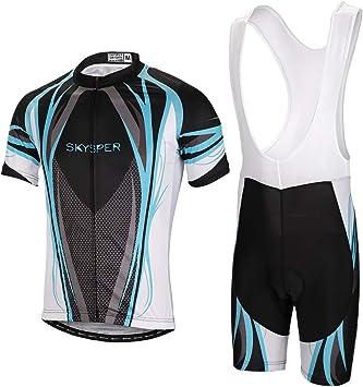 SKYSPER Ciclismo Maillot, Hombres Jersey + Pantalones Cortos ...