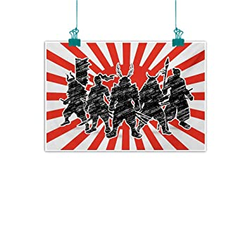 Amazon.com: Mdxizc Abstract Painting Japanese Group of ...