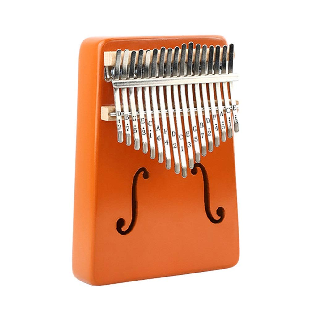 Mahogany Wood 17 Keys Kalimba Thumb Piano Standard C Tune Finger Piano Metal Engraved Notation Tines With Tuning Hammer Pickup Carry Bag Kids Musical Instrument Gifts for Music Lover Beginners
