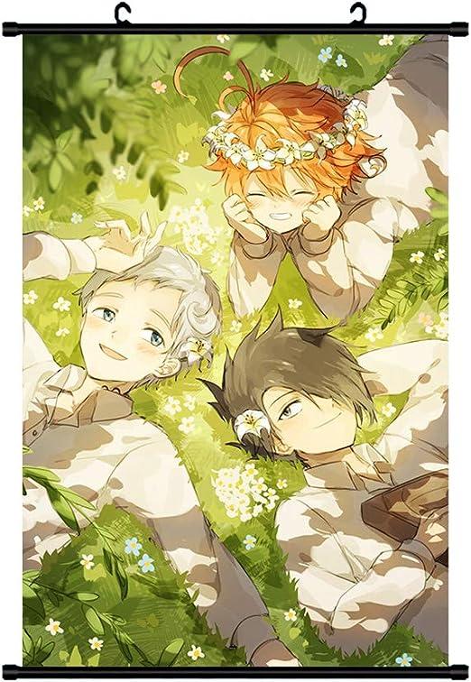yakusoku no neverland HD Print Anime  Wall Poster Scroll Room Decor