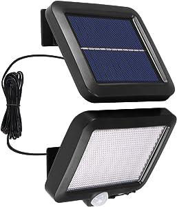 AOZBZ Solar Power Wall Light, Outdoor Motion Sensor Light 56 LEDs Securtiy Night Light Separable Solar Panel Light for Patio Yard Deck Garage Driveway Porch Fence