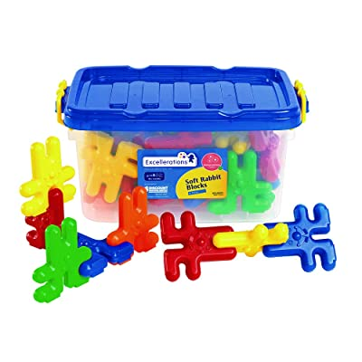 """Excellerations Construction Toys, STEM Building Toys, Blocks, 3""""L x 1/2""""W x 3""""H Builders, Connection Toys, Ages 3 Years and up, Preschool Manipulatives (Rabbits): Industrial & Scientific"""