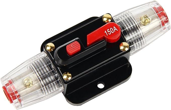 Latinaric 12 V 24 V Dc Auto Audio Inline Leistungsschalter Mit Manueller Rückstellung Wechselrichter Sicherungsschalter 20 A 30 A 40 A 50 A 60 A 80 A 100 A 150 A Auto