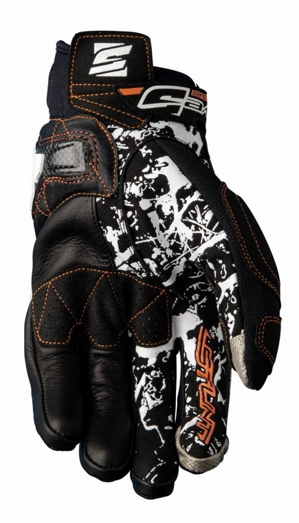 Icon Orange Five Stunt Evo Replica Textile Adult Street Motorcycle Gloves