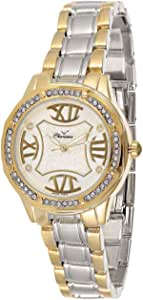Charisma Women's White Dial Yellow Gold Plated Band Watch - C6635C