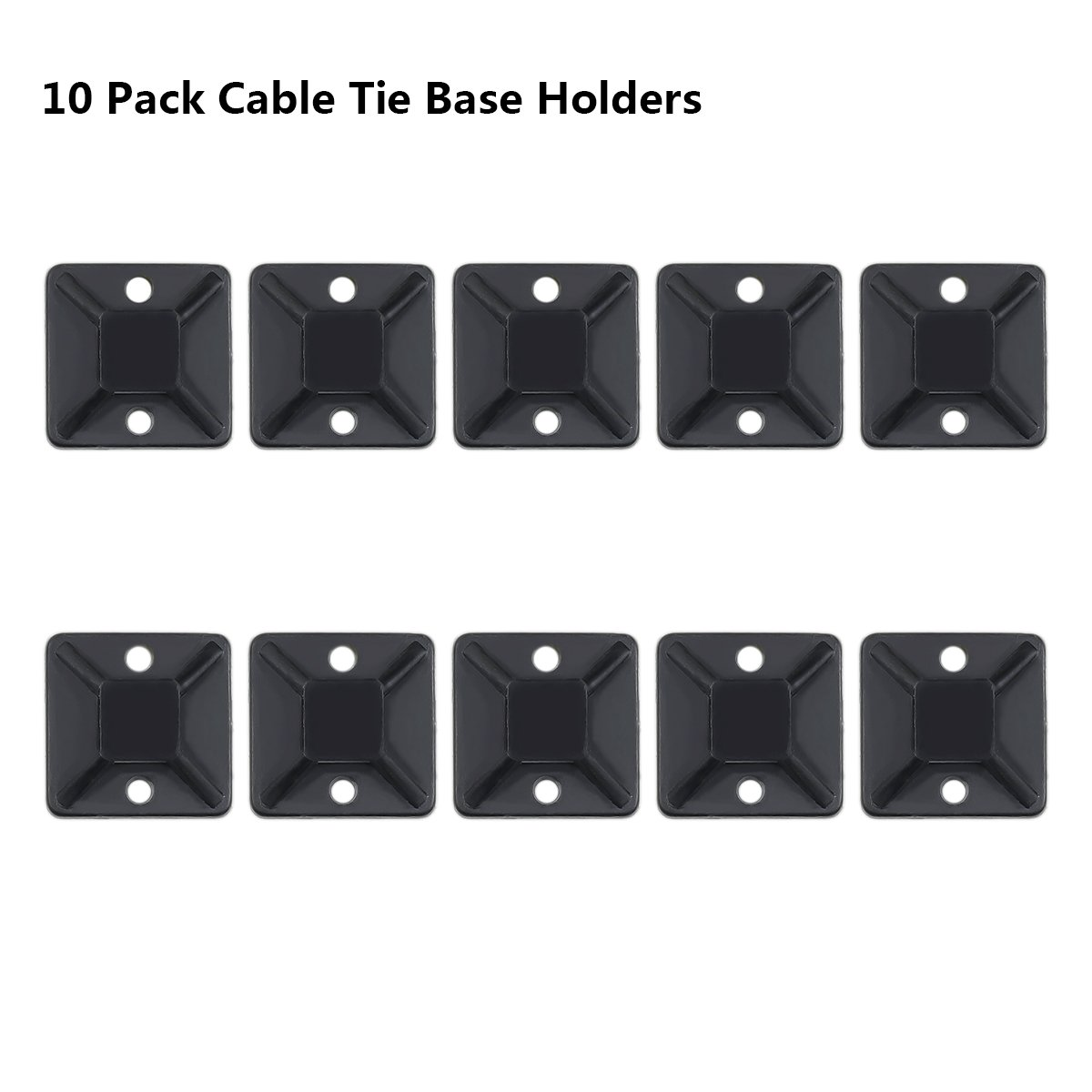 AMANEER Cable Zip Ties Black Flexible Nylon Wire Ties Ajustable Cable Cord Management For Electrical Accessories (500 Variety Pack) by AMANEER (Image #3)