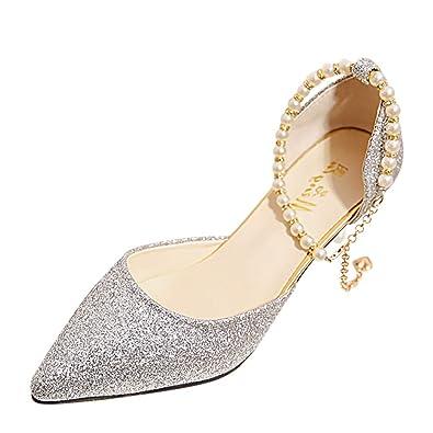 a1bea9f20b85cc Solike Escarpins Femme Talons Aiguilles 6 CM - Sexy Chaussures Talon Haute  - Stiletto Escarpin Pointu