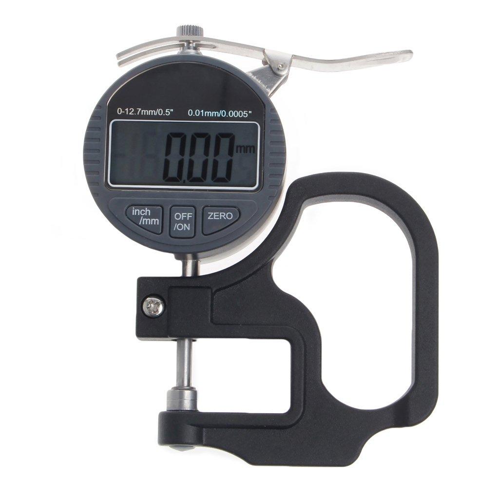 Jiamins - Medidor de grosor electró nico (0 a 12,7 mm, 0,01 mm de profundidad)