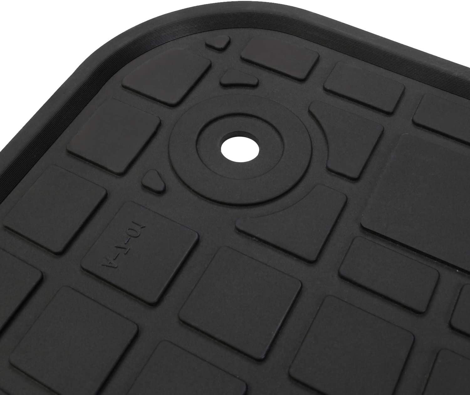 San Auto Car Floor Mat Rubber Custom Fit for for Audi Q7 2016 2017 2018 2019 Black Red Auto Floor Liners All Weather Heavy Duty Odorless