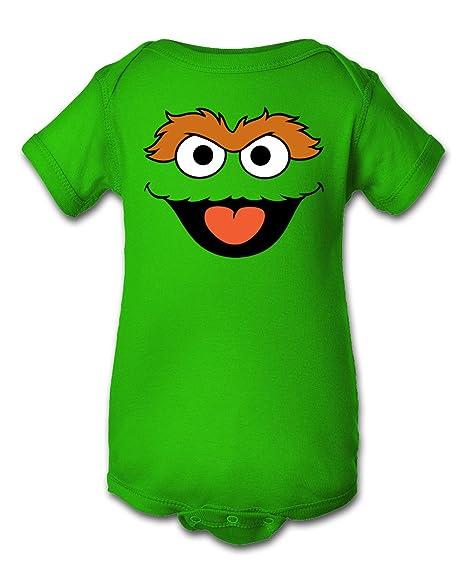 Tee Tee Monster Baby Boys Oscar The Grouch Inspired Onesie