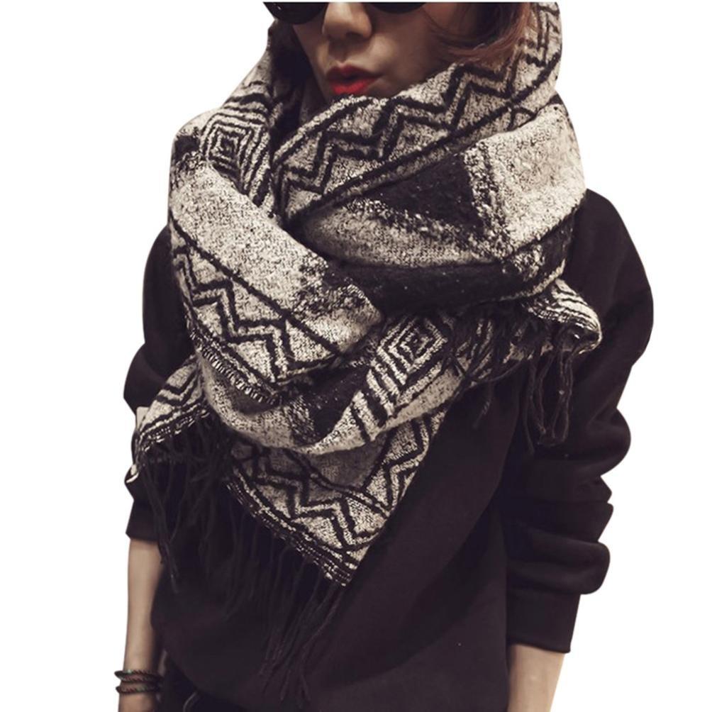 Fheaven Women Lady Shawl Scarf Cozy Tassel Blanket (A) 4334242449