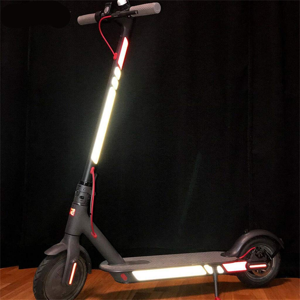 SMILEQ Accesorios para Bicicletas Pegatinas Reflectantes para Xiaomi Mijia M365 M187 Scooter eléctrico Reflect Light