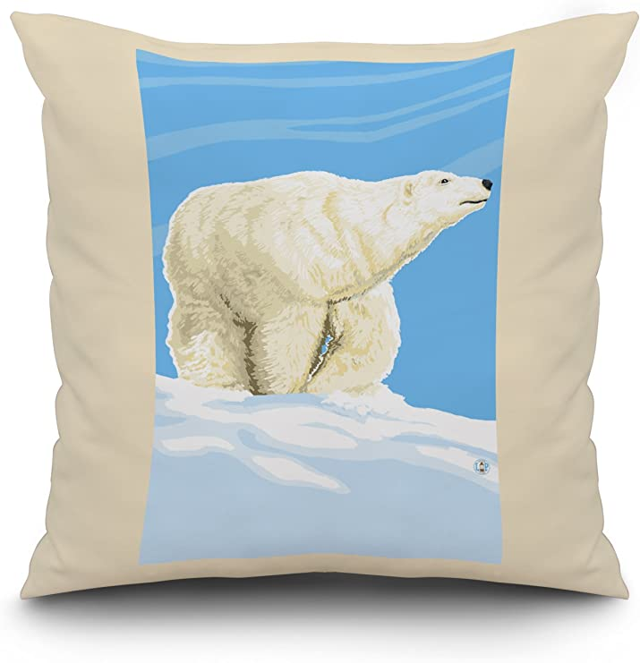 16-Inch by 16-Inch Patch Magic Lighthouse by Bay Blk//White Toss Pillow