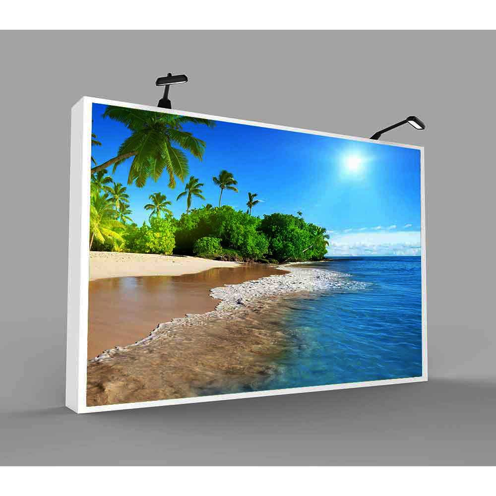 FHZON 10x7ft Summer Sunshine Backdrop Beach Coast Tropical Paradise Blue Sea Sky Coconut Tree Photography Background Themed Party YouTube Backdrop Photo Booth Studio Props FH1200 by FHZON (Image #4)
