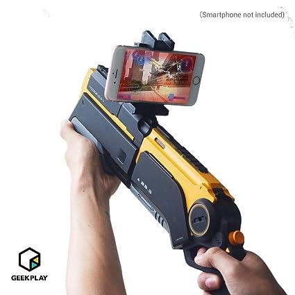 Amazon com: Geekplay 2 in 1 AR Gun Game Poseidon, 360 AR FPS Toy