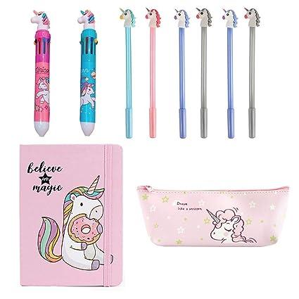 Amycute - Juego de 10 bolígrafos de unicornio para lápices ...