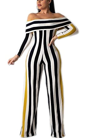 4c3fd93b30e Amazon.com  LKOUS Women Summer Sexy Floral Print Off Shoulder Short Sleeve  One-Piece Bodycon Jumpsuits Elegant Romper Plus Size  Clothing