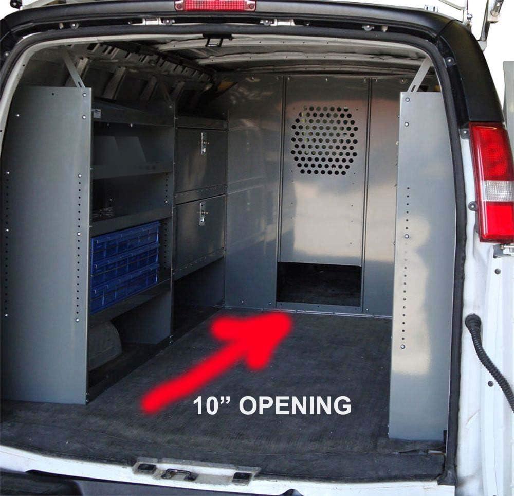 Van partición de seguridad, mampara/divisor con apertura de 10 ...