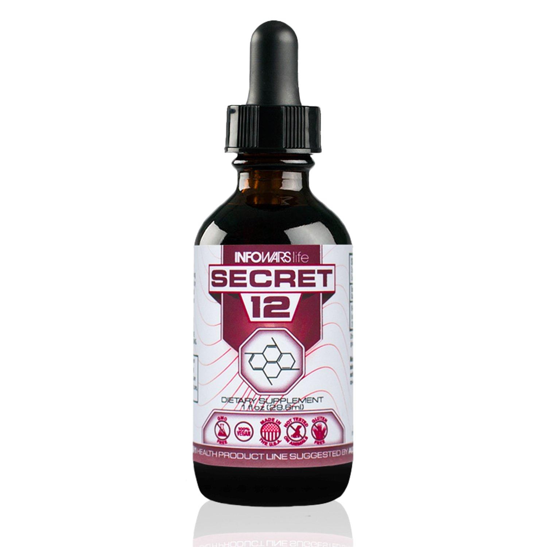 Secret 12 Vitamin B12 Liquid 2,500 mcg (1 oz.) – Supports Energy Levels & Metabolism – Vegan, Non-GMO & Gluten Free Sublingual Drops