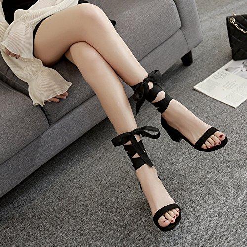con porto le le sandali 3cm sono legate i donne al ZHANGJIA e nastri nero fate trentaquattro sono i gwYx1XxnqH
