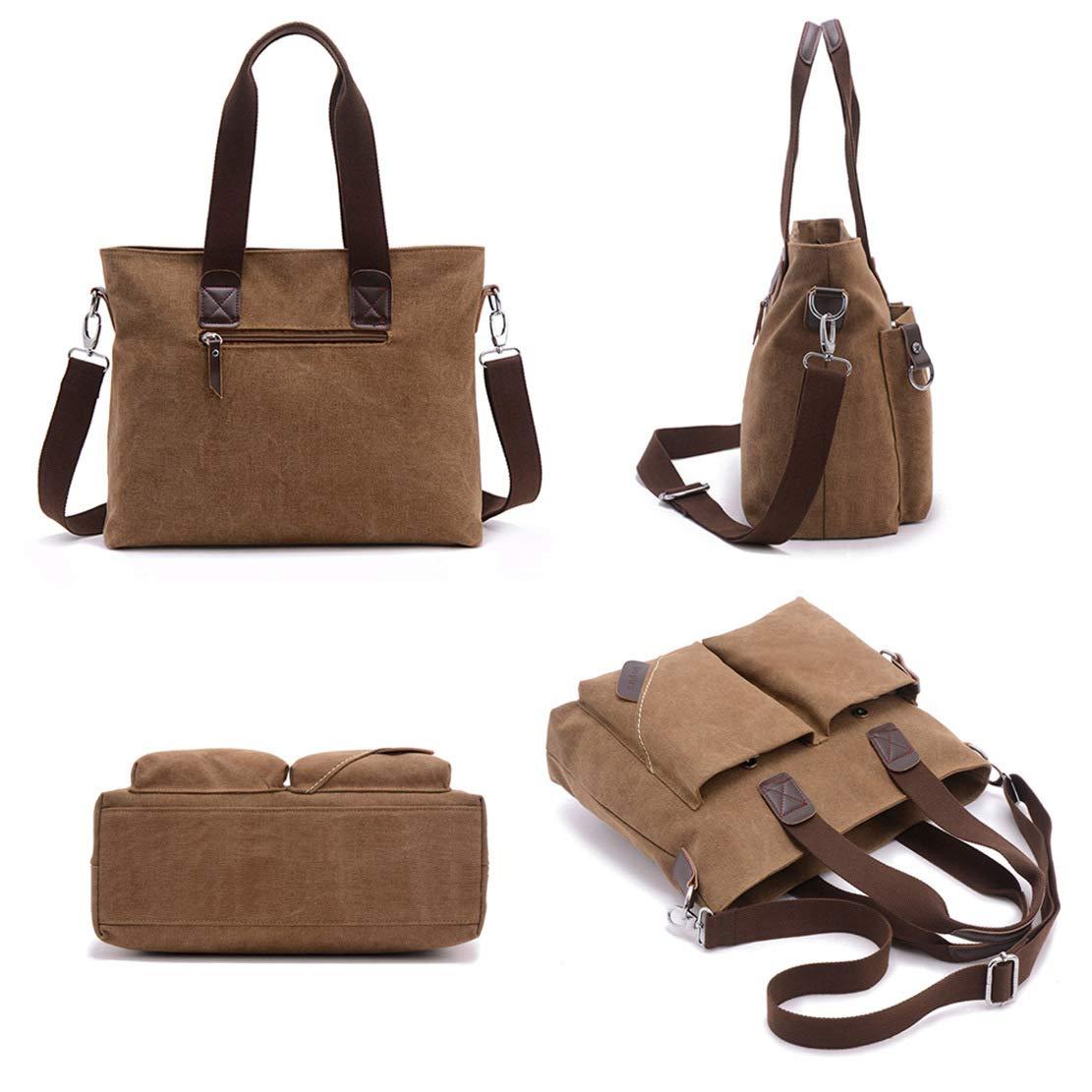 ToLFE Women Top Handle Satchel Handbags Tote Purse Shoulder Bag (Khaki-(Large)) by ToLFE (Image #4)