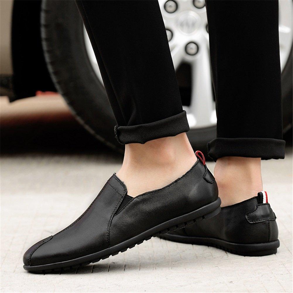 Zapatos de Hombre, Zapatos de Hombre Hombre de Cuero Primavera Verano Mocasín Mocasín y Slip-Ons Zapatos de conducción Casual Tamaño Grande Negro, Blanco,Zapatos (Color : Negro, tamaño : 40) 14be28