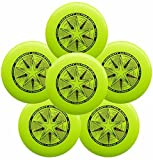 Discraft Ultra-Star 175g Ultimate Frisbee Sport Disc (6 Pack) Yellow