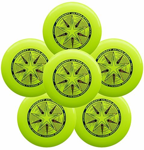 Discraft Ultra-Star 175g Ultimate Frisbee Sport Disc (6 Pack) Yellow by Discraft